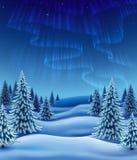 Djupfryst skog stock illustrationer