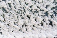 Djupfryst snö på exponeringsglas Royaltyfria Foton