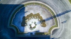 Djupfryst springbrunn, villaReale trädgård, Monza, Italien Arkivfoton