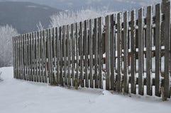 Djupfryst staket Arkivbild