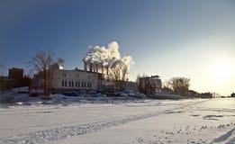djupfryst station för värmeflodkust Fotografering för Bildbyråer
