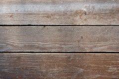 Djupfryst träbrädebakgrund Det är den verkliga fotoen i solig frostig dag fotografering för bildbyråer