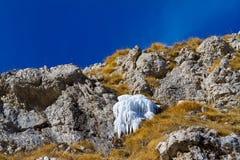 Djupfryst vår i bergen Fotografering för Bildbyråer