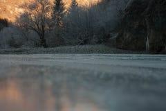 djupfryst vatten Royaltyfri Fotografi