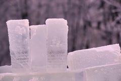 djupfryst vatten kall is Vit snow Royaltyfria Bilder