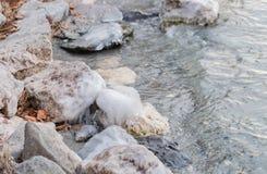 Djupfryst vatten på sjön 12 Royaltyfria Bilder
