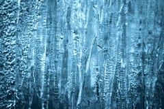 Djupfryst vattenabstrakt begreppform, closeup för isisflak Royaltyfri Bild