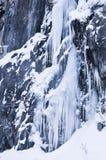 Djupfryst vattenfall Arkivfoton