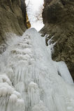 djupfryst vattenfall Royaltyfria Bilder
