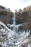 djupfryst vattenfall Royaltyfri Foto