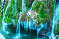 djupfryst vattenfall Arkivbilder