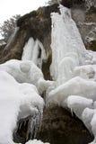 djupfryst vattenfall Arkivbild