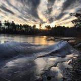 djupfryst waves Royaltyfria Bilder