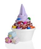 djupfryst yoghurt arkivfoton