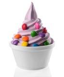 djupfryst yoghurt arkivbild