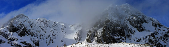 Djupfrysta bergmaxima Arkivbilder