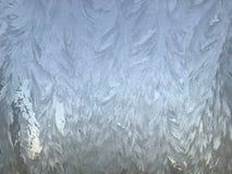 Djupfrysta ismodeller på ett fönster Royaltyfri Fotografi