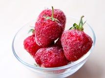 Djupfrysta jordgubbar Royaltyfria Bilder
