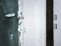 Djupfrysta Wislok i Rzeszow Arkivfoto
