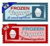 Djupfrysta yoghurtkuponger stock illustrationer