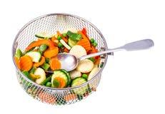Djupfryste grönsaker som bevarar vitaminer Royaltyfri Foto