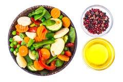 Djupfryste grönsaker som bevarar vitaminer Royaltyfri Bild