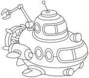 Djuphavs- bathyscaphe för leksak Arkivfoto