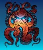 Djuphavs- bläckfisk också vektor för coreldrawillustration vektor illustrationer
