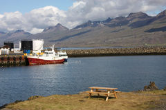 Djupivogur, Iceland. Iceland - Djupivogur, small fishing town. Mountains and fiord Stock Photography