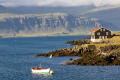 Djupivogur - Icelandic Fishing Town. Stock Photo