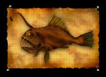 djupt fiskmonsterhav Royaltyfri Foto