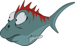 djupt fiskvatten för tecknad film Royaltyfria Foton