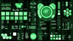 Djupt - grön futuristisk manöverenhet/Digital screen/HUD