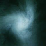 Djupt - grön rökbakgrund med ljus Fotografering för Bildbyråer