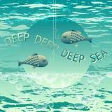 djupt hav Fiska för vektor som är themed Fotografering för Bildbyråer