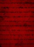 Djupt mörker - röd Grungebakgrund med det svarta lantliga trycket Royaltyfri Bild