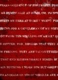 Djupt mörker - röd Grungebakgrund med det vita lantliga trycket Arkivfoton