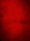 Djupt mörker - röd konkret Grungebakgrund Arkivbilder