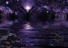 Djupt - purpurfärgad fantasi stock illustrationer