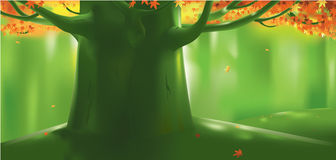 Djupt skogträd på hösten Royaltyfri Bild