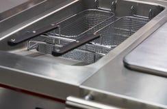 Djupt steka yttersida för att laga mat Fotografering för Bildbyråer