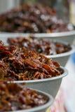 Djupt stekt marinerat nötkött och griskött Arkivbild