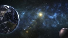 Djupt utrymme, skönhet av ändlöst kosmos Sciencetapet vektor illustrationer