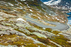 Djupvatnet lake and road to Dalsnibba mountain Norway Royalty Free Stock Image