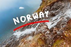 Djupvatnet See, Norwegen Stockfoto