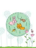 Djur äter gräs Royaltyfria Foton