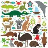 djur Australien vektor illustrationer