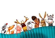 djur bakgrundsset Arkivbild