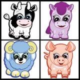djur brukar little ställde in royaltyfri illustrationer