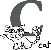 djur c katt för alfabet Arkivbild